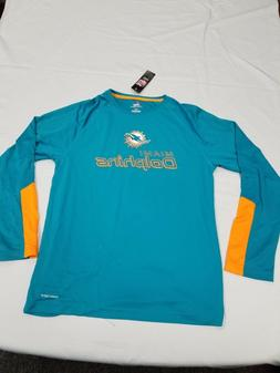 *NEW*NFL Team Apparel Miami Dolphins Drywick Shirt Mens Size