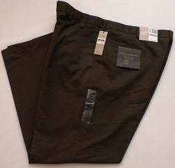 NEW Dockers Premium Comfort Khaki Relaxed Flat-Front Brown P