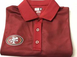 NEW NFL Team Apparel San Francisco 49'ers Red Polo Golf Styl