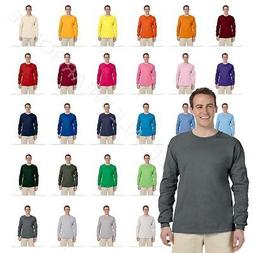 NEW Fruit Of The Loom Tee Heavy Cotton Men's Long Sleeve T-S