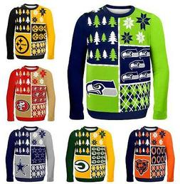 NFL Football 2014 Logo Ugly Christmas Sweater Busy Block Sty
