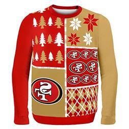 NFL Football 2014 Ugly Christmas Sweater Busy Block Design -