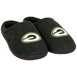 FOCO NFL Green Bay Packers Men's Poly Knit Cup Sole Slipper,