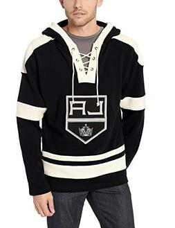OTS NHL Los Angeles Kings Male Grant Lace Up Pullover Hoodie