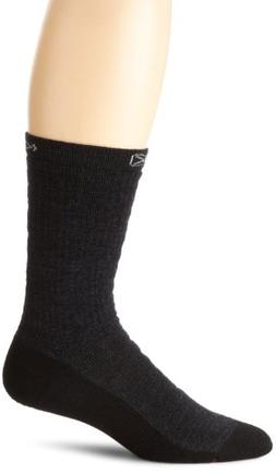 KEEN Men's North Country Medium Crew Socks, Charcoal/Black,