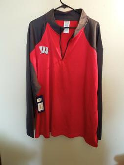 NWT - ProEdge By Knights Apparel - 3XL - 1/4 Zip - REd /Gray