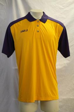 nwt gold purple lsu tigers polo mens