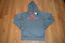 NWT Mens CHAMPION Gray Wisconsin Badgers Hoodie Sweatshirt S