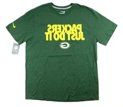 NWT Nike NFL Team Apparel Green Bay Packers Just Do It Green