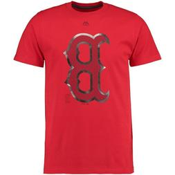 OFFICIALLY LICENSED BOSTON RED SOX LOGO ADULT MENS T-SHIRT S