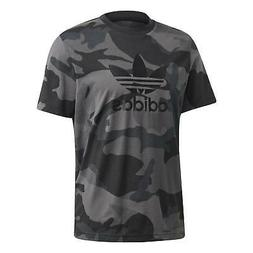 adidas ORIGINALS MEN'S CAMOUFLAGE TREFOIL T-SHIRT TEE BLACK