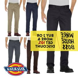 DICKIES PANTS WP873 MENS WORK PANTS SLIM-FIT STRAIGHT LEG WO