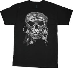 Pirate T-shirt Mens Graphic Tee Clothing Apparel Gear Skull