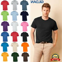 Gildan Plain Mens Heavy Cotton T-Shirts Blank 100% Cotton T