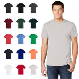 American Apparel Poly Cotton T-Shirt Slim Fit Comfort Ring S