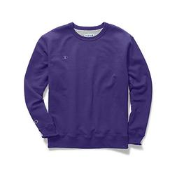 Champion Men's Powerblend Sweats Pullover Crew Purple M
