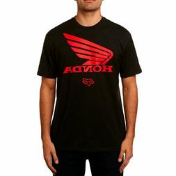 Fox Racing x Honda Men's Honda Basic Short Sleeve T Shirt Bl
