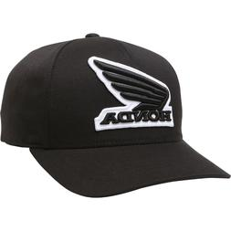 Fox Racing x Honda Men's Honda Flexfit Hat Black Baseball Ca