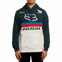 Fox Racing x Honda Men's Fox Honda Pullover Hoodie Blue Clot