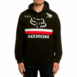 Fox Racing x Honda Men's Fox Honda Pullover Hoodie Black Clo