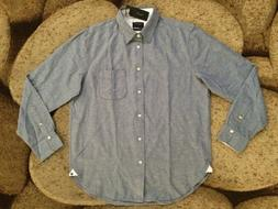 Rag & Bone Classic Fit 3 Beach Shirt Mens Size Large Blue NW