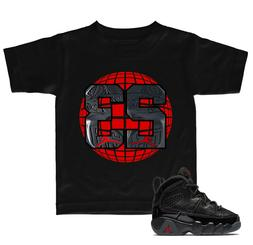 Retro 9 Black T Shirt to match with Toddlers 2018 Air Jordan
