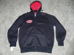 san francisco 49ers hooded jacket mens 2xl