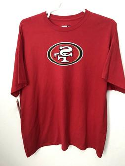 San Francisco 49ers Mens T-Shirt Red Short Sleeves NFL Team