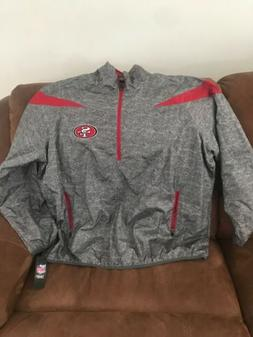 San Francisco 49ers Team Apparel Fooball Pullover Jacket NWT