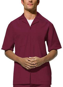 Scrubs Cherokee Workwear Men's Zip Front Jacket 4300 Wine