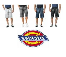 "Dickies Shorts 13"" Mens Work Shorts Plaid Flex Relaxed Fit M"