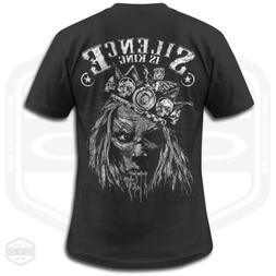 Silence Is King Men's T-Shirt Black | S-6XL | Made In USA by