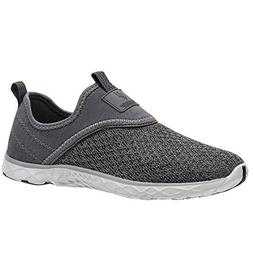ALEADER Men's Slip-on Athletic Water Shoes All Grey 11.5 D U