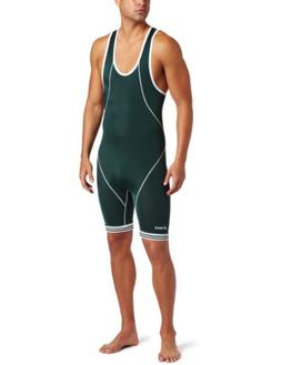ASICS Men's Snap Down Singlet,Forest/White,X-Small