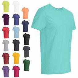 Fruit of the Loom SofSpun Mens Tees Guys Shirt Jersey Crewne