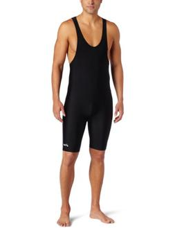 ASICS Men's Solid Modified Singlet, Black, Medium
