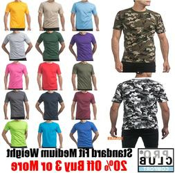 PRO CLUB T SHIRTS MEN'S PLAIN CAMO TEE SHIRT PROCLUB COMFORT