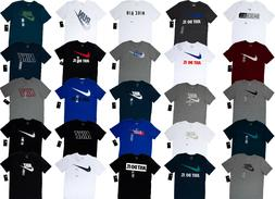 Men NIKE T SHIRT Graphic Tee Crew Neck S-3XL - Athletic Fit