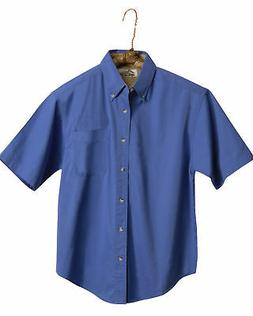 Tri-Mountain Men's Big And Tall Short Sleeve Button Down Shi