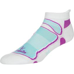 Balega Ultra Light No-Show Running Sock White/Berry/Aqua, S