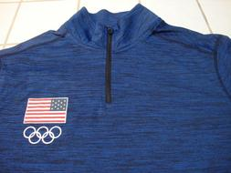 usa long sleeve pullover navy blue heather