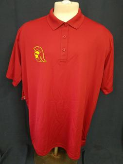 USC Trojans Authentic Apparel Polo Shirt Mens Size 2XL Red G