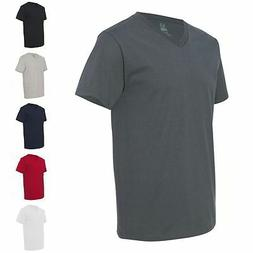 Fruit of the Loom V-Neck 100% Heavy Cotton Mens T Shirts 39V