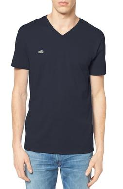 Men's Lacoste V-Neck T-Shirt, Size 6 - Blue