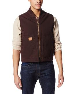 washed canvas vest