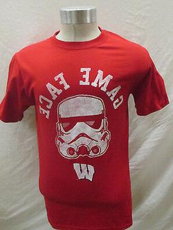 Wisconsin Badgers Men's S T-shirt Knights Apparel Star Wars