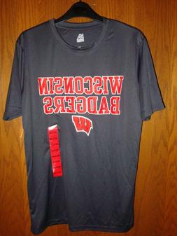 wisconsin badgers mens cool dri tshirt size