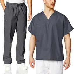 Cherokee Mens Workwear Scrub Set Medical/Dentist Uniform V-N