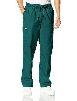 Cherokee Workwear Scrubs Men's Cargo Pant, Hunter, Large