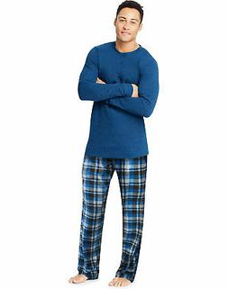 Hanes X-Temp Mens Microfleece Sleep wear Pajama Set Long Sle